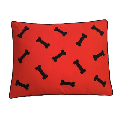 Dog Bed Pillow Color: Black/Red
