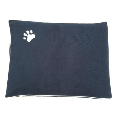Dog Bed Pillow Color: Navy/White