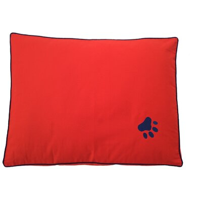 Dog Bed Pillow Color: Red/Blue