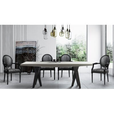 Simpson 7 Piece Dining Set Chair Color: Gray