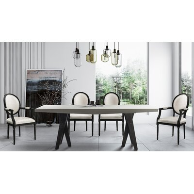 Simpson 7 Piece Dining Set Chair Color: White