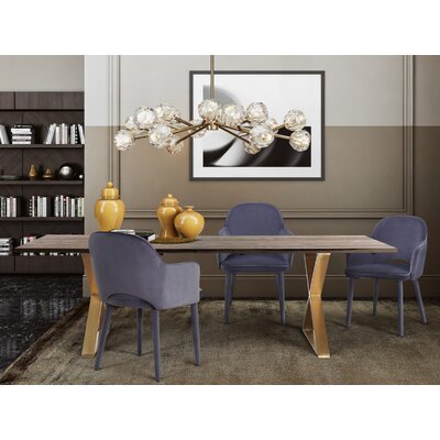 Lavigne 5 Piece Dining Set Chair Color: Gray