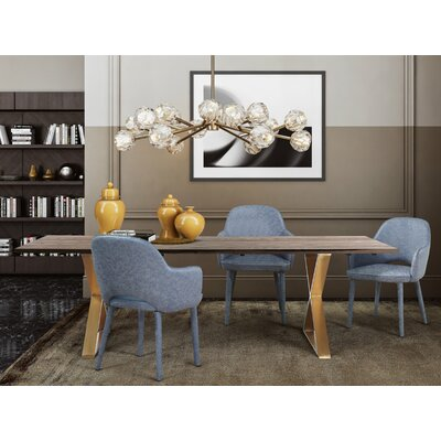 Lavigne 5 Piece Dining Set Chair Color: Smokey Gray