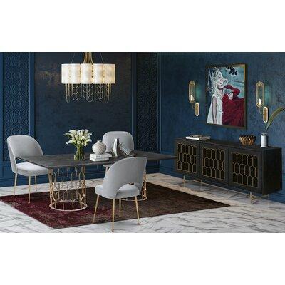 Lavine 5 Piece Dining Set Table Top Color: Black