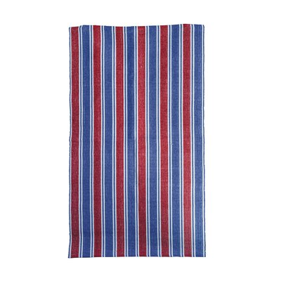 Fenley Striped Red/Navy Area Rug
