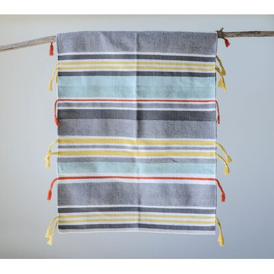 Feng Striped Gray/Yellow Area Rug