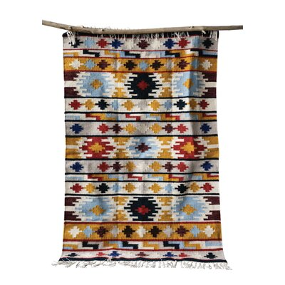 Gerardi Kilim Orange/Black Area Rug