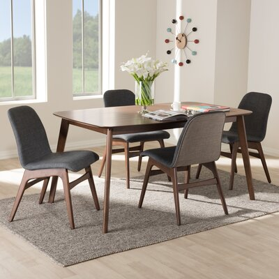 Cropper Mid-Century 5 Piece Dining Set