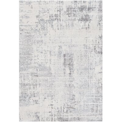 Heger Distressed Abstract Gray/Taupe Area Rug Rug Size: Runner 27 x 76