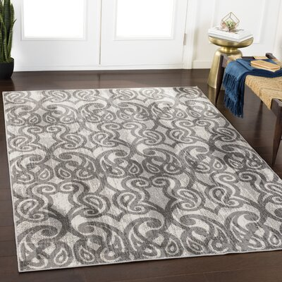Helfer Taupe/Gray Area Rug Rug Size: Rectangle 53 x 76