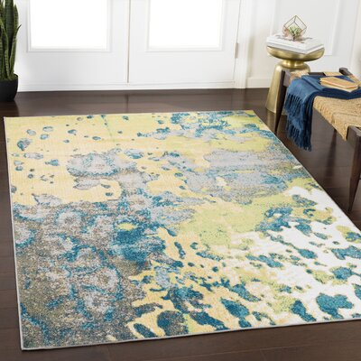 Ramm Abstract Lime/Grass Green Area Rug Rug Size: Rectangle 710 x 103