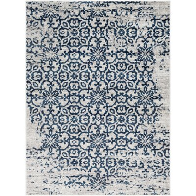 Ranck Distressed Taupe/Navy Area Rug Rug Size: Rectangle 710 x 103