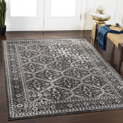 Gerber Updated Charcoal/Gray Area Rug Rug Size: Rectangle 2 x 3