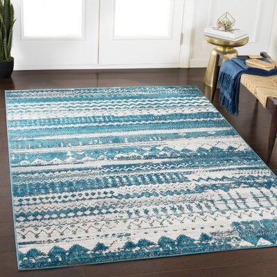 Ramm Vintage Southwestern Teal/Navy Area Rug Rug Size: Rectangle 2 x 3