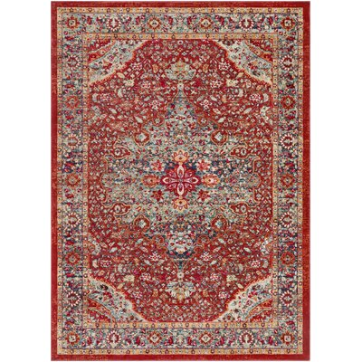 Raminez Vintage Oriental Burnt Orange/Teal Rug Rug Size: Runner 211 x 710