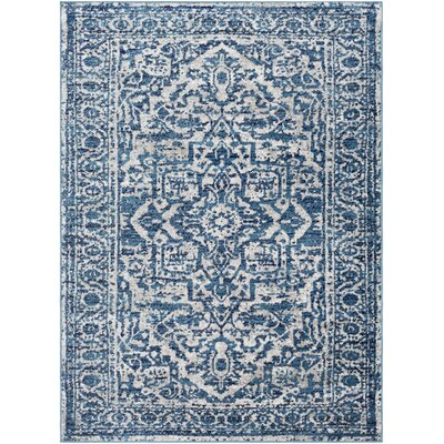 Ranck Distressed Cyan/Navy Area Rug Rug Size: Rectangle 710 x 103
