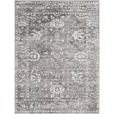 Ranck Distressed Vintage Light Gray/Gray Area Rug Rug Size: Rectangle 53 x 73