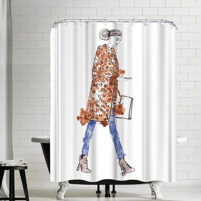 Alison B Fall Fur Shower Curtain