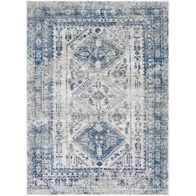 Ranck Distressed Vintage Teal/Navy Area Rug Rug Size: Rectangle 710 x 103