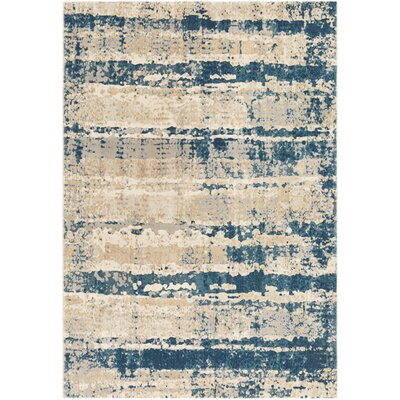 Oakdene Abstract Teal/Taupe Area Rug Rug Size: Rectangle 53 x 76