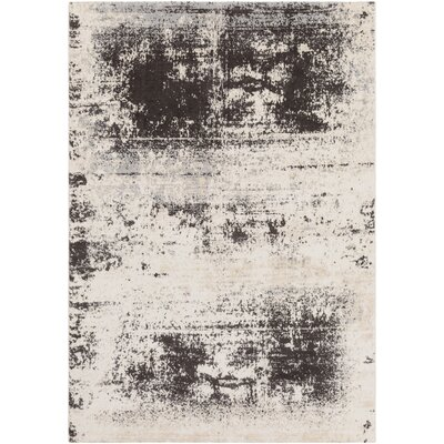 Hegarty Distressed Abstract Taupe/Ivory Area Rug Rug Size: Rectangle 53 x 76