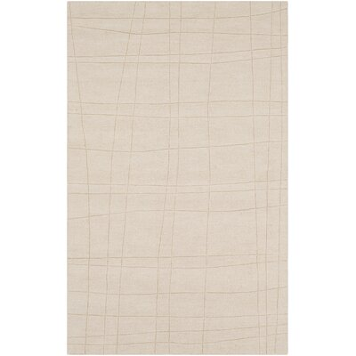 Ogilvie Hand-Woven Wool Tan/Khaki Area Rug Rug Size: Rectangle 5 x 8