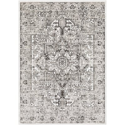Randazzo Vintage Distressed Taupe/Charcoal Area Rug Rug Size: Rectangle 39 x 52