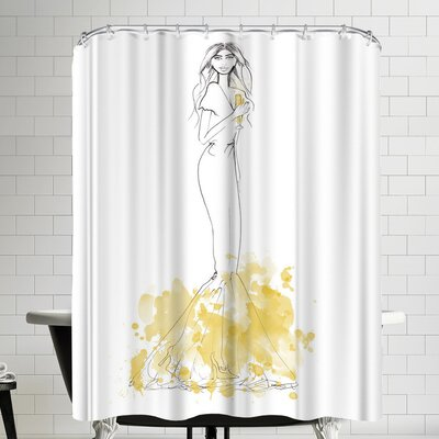 Alison B Party Gold Shower Curtain