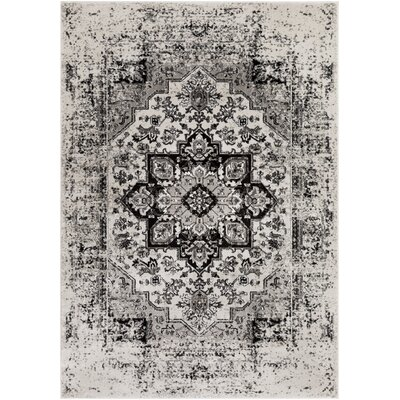 Randazzo Vintage Oriental Charcoal/Taupe Area Rug Rug Size: Rectangle 78 x 106