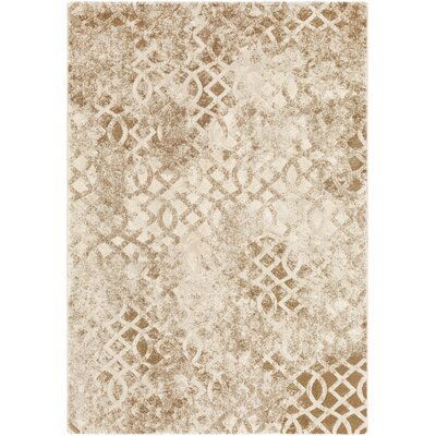 Oakdene Distressed Camel/Tan Area Rug Rug Size: Rectangle 53 x 76