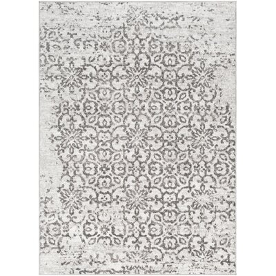 Ranck Distressed Taupe/Ivory Area Rug Rug Size: Rectangle 53 x 73