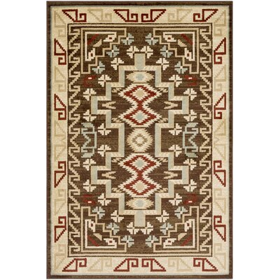 Thornton Brown/Burgundy Area Rug Rug Size: Rectangle 67 x 96