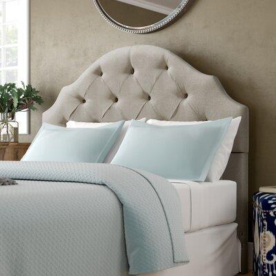 Joyce Upholstered Panel Headboard Size: Full/Queen, Upholstery: Linen