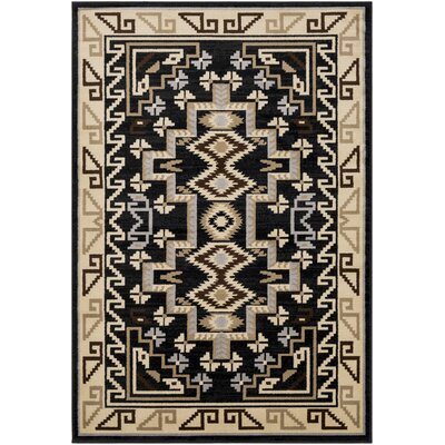 Thornton Black/Tan Area Rug Rug Size: Rectangle 2 x 3