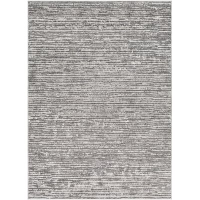 Cudney Gray/Light Gray Area Rug Rug Size: Rectangle 53 x 73
