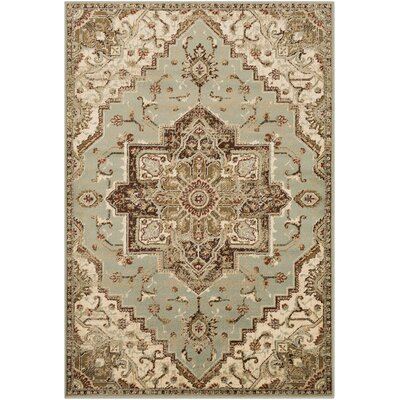 Gerena Vintage Distressed Olive/Sage Area Rug Rug Size: Rectangle 2 x 3