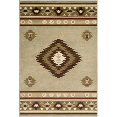 Thornton Olive/Dark Brown Area Rug Rug Size: Rectangle 53 x 76