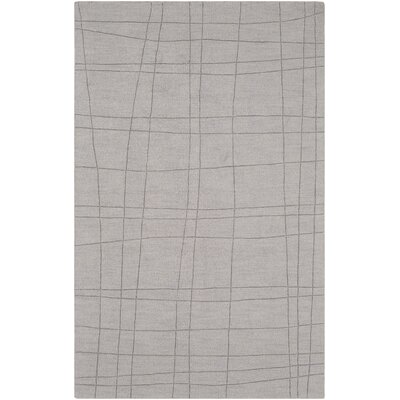 Ogilvie Hand-Woven Wool Gray Area Rug Rug Size: Rectangle 5 x 8