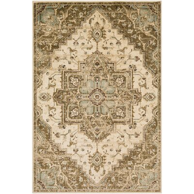 Gerena Vintage Distressed Sage/Olive Area Rug Rug Size: Rectangle 53 x 76