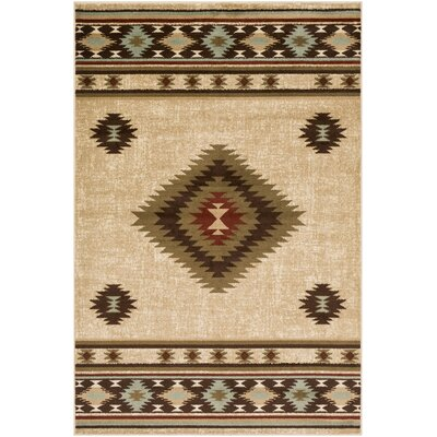 Thornton Distressed Southwestern Olive/Burgundy Area Rug Rug Size: Rectangle 67 x 96