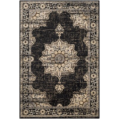 Gerena Vintage Oriental Charcoal/Gray Area Rug Rug Size: Rectangle 79 x 112