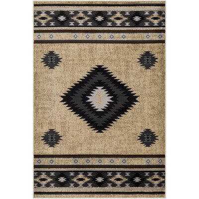 Thornton Bohemian/Global Charcoal/Dark Gray Area Rug Rug Size: Rectangle 67 x 96