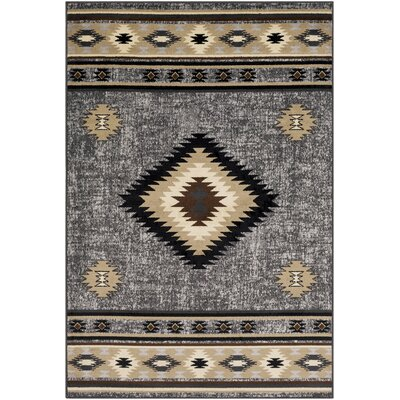 Thornton Black/Tan Area Rug Rug Size: Rectangle 79 x 112