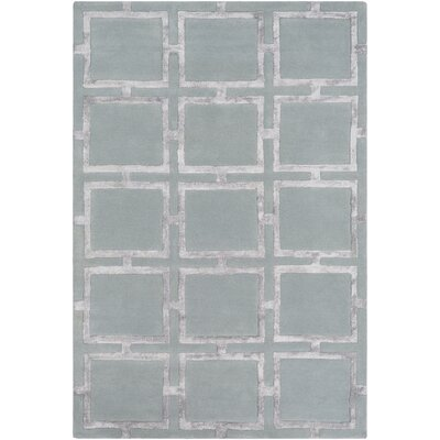 Howard Beach Geometric Hand-Tufted Sage/Light Gray Area Rug Rug Size: Rectangle 8 x 10