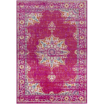 Paramount Distressed Fuscia Area Rug Rug Size: Rectangle 67 x 96