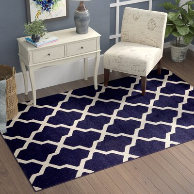 Moore Blue Area Rug Rug Size: Rectangle 9 x 12