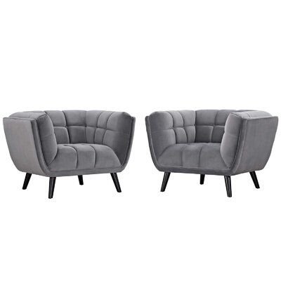 Tobias Armchair Upholstery: Velvet Gray