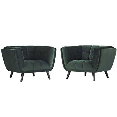 Tobias Armchair Upholstery: Velvet Green