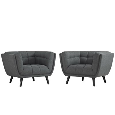 Tobias Armchair Upholstery: Polyester Gray