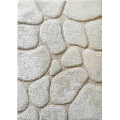 Rosenblatt Rock Design Hand-Tufted Ivory Area Rug